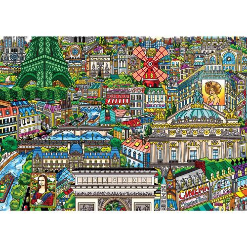 Under the Paris Sky 300 Large Piece Jigsaw Puzzle