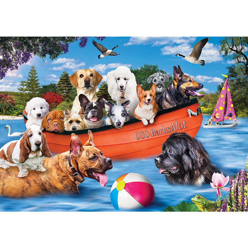 USS BarksAlot 300 Large Piece Jigsaw Puzzle