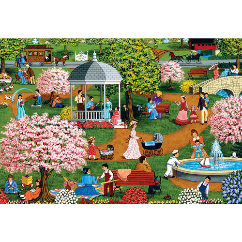 Mother's Day At The Park 500 Piece Jigsaw Puzzle
