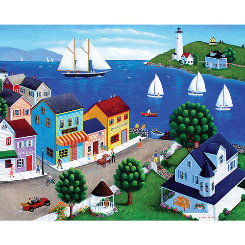 Harbor Town 300 Large Piece Jigsaw Puzzle