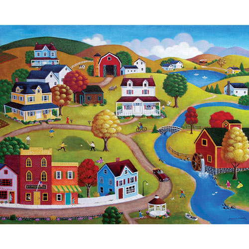 Country Village 1000 Piece Jigsaw Puzzle