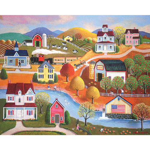 Farm In Autumn 1000 Piece Jigsaw Puzzle