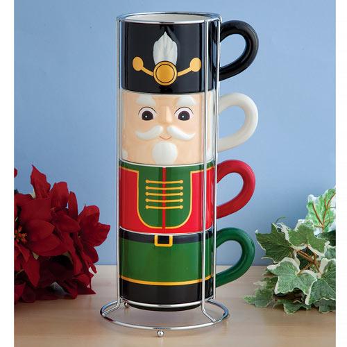 Nutcracker Stacking Mug Set