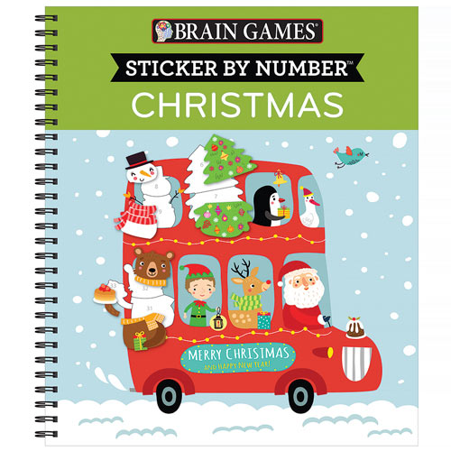 Sticker by Number Book - Christmas Bus