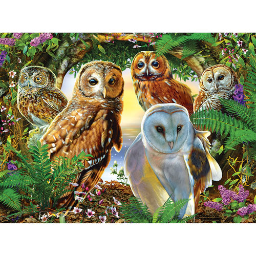 A Parliament of Owls 300 Large Piece Jigsaw Puzzle