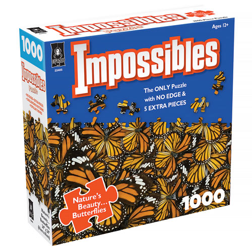 Impossible Butterflies 1000 Piece Jigsaw Puzzle