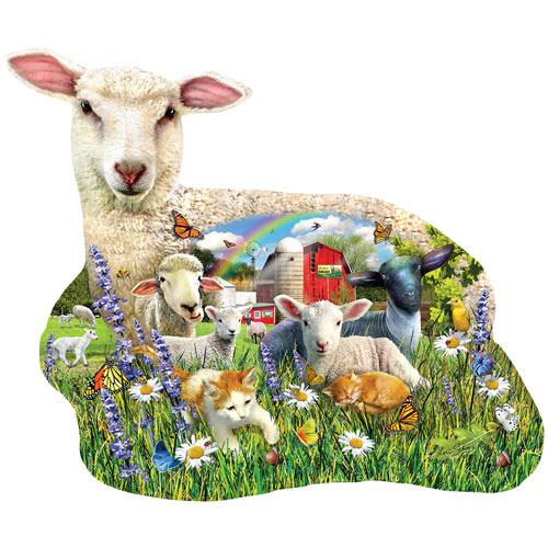 Lamb Shop 1000 Piece Shaped Jigsaw Puzzle