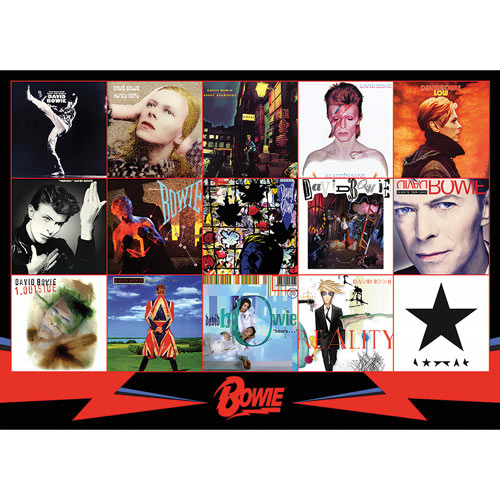 David Bowie Albums 1000 Piece Jigsaw Puzzle