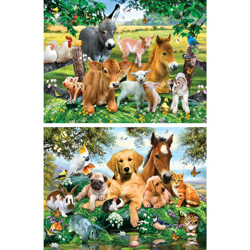 Set of 2: Howard Robinson 300 Large Piece Jigsaw Puzzles