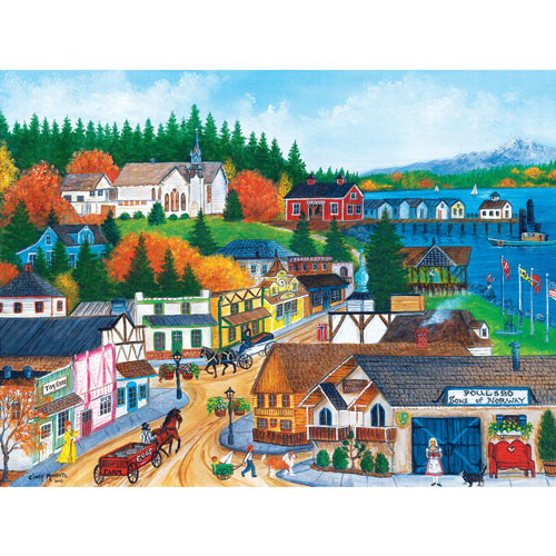 Old Port Poulsbo 550 Piece Jigsaw Puzzle