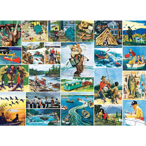 Outdoors Collage 1000 Piece Jigsaw Puzzle