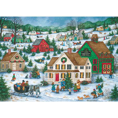 Christmas Tree Hill 1000 Piece Jigsaw Puzzle
