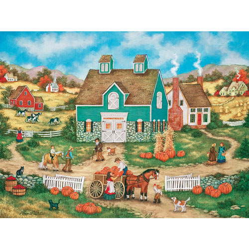 Piles of Pumpkins 300 Large Piece Jigsaw Puzzle