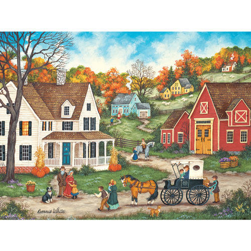 Thanksgiving at Grandma's 300 Large Piece Jigsaw Puzzle