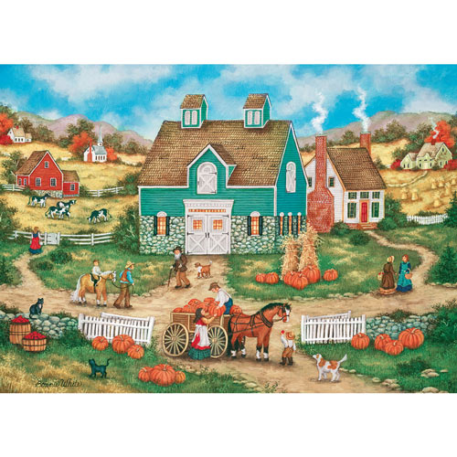 Piles of Pumpkins 1000 Piece Jigsaw Puzzle