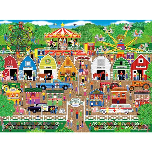 Farm County Fair 300 Large Piece Jigsaw Puzzle