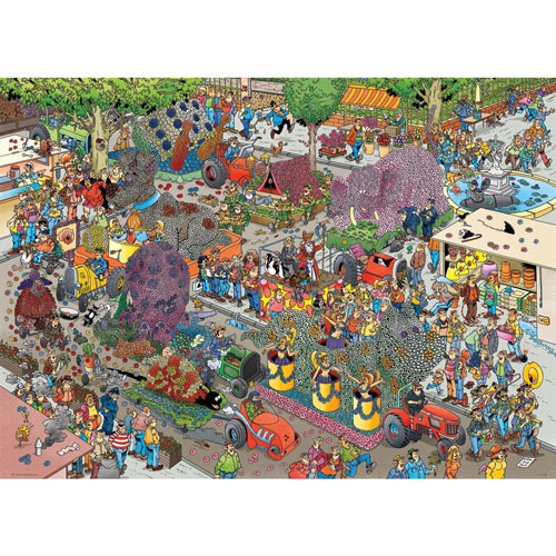 The Flower Parade 1000 Piece Jigsaw Puzzle