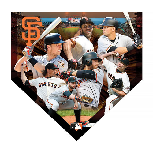 MLB Home Plate Shaped 500 Piece Jigsaw- Giants