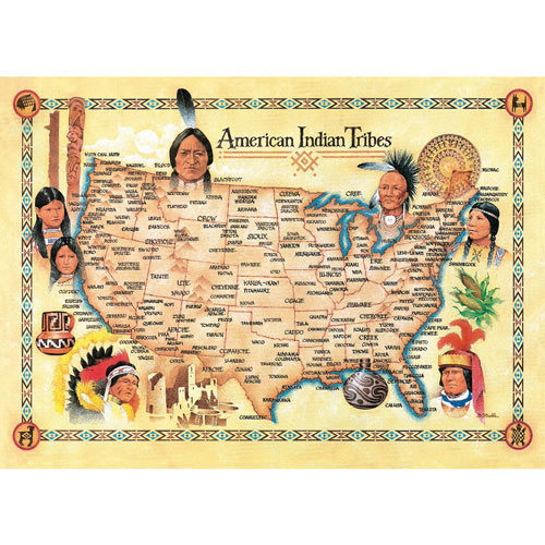 American Indian Tribal Map 550 Piece Jigsaw Puzzle
