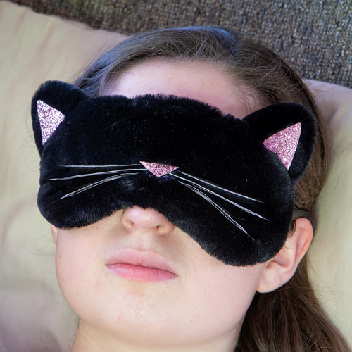Black Cat Sleepy Eye Mask