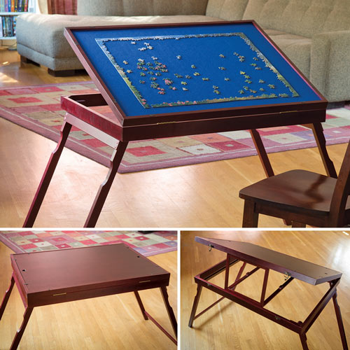 Puzzle Expert™ Wooden Tilt-Up Table