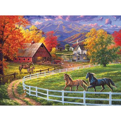 Horse Valley Farm 300 Large Piece Jigsaw Puzzle