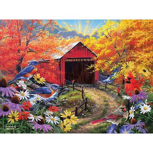 Bluebird Bridge 500 Piece Jigsaw Puzzle