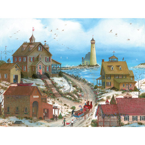 Two Beach Belles and a Flirt 500 Piece Jigsaw Puzzle