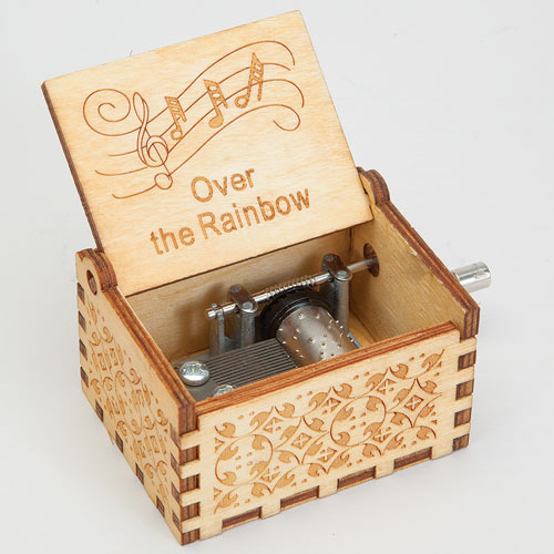 Wooden Music Box - Over The Rainbow
