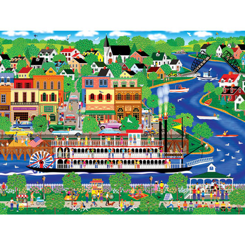 Lady of the River 300 Large Piece Jigsaw Puzzle