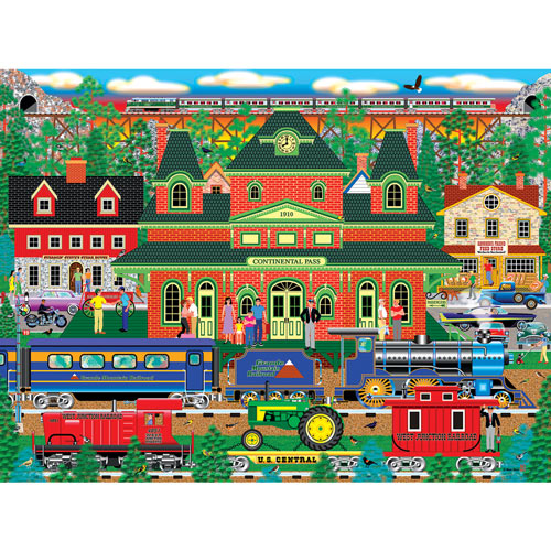 Mountain Rail Holiday 300 Large Piece Jigsaw Puzzle