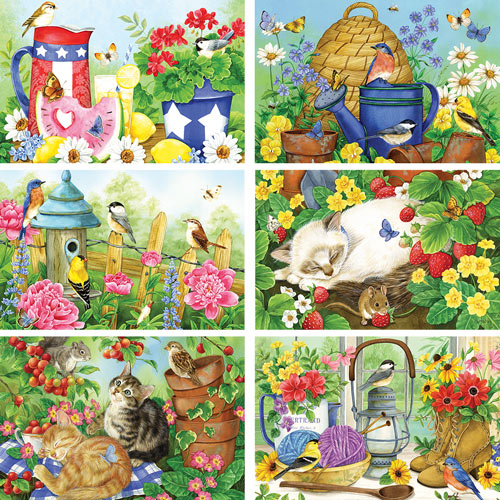 Set of 6: Jane Maday 500 Piece Jigsaw Puzzles