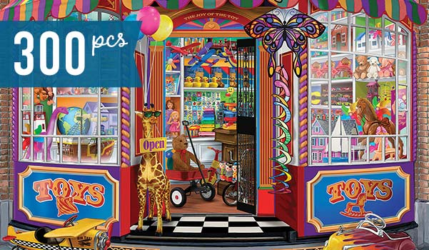 The Corner Toy Shop 300 Large Piece Jigsaw Puzzle