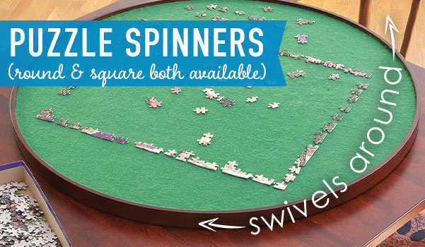 Jigsaw Puzzle Spinners - Round