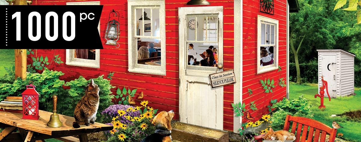 Little Red Schoolhouse 1000 Piece Jigsaw Puzzle
