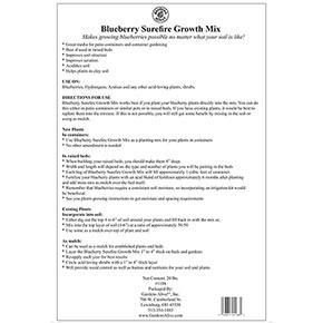 Blueberry Surefire Growth Mix 20lb