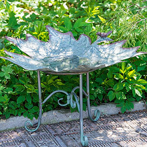 Maple Leaf Bird Bath