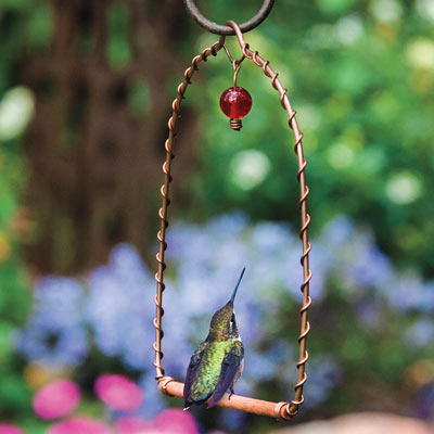 Copper Hummingbird Perch