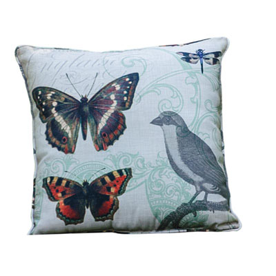 Grosbeak Family Pillow