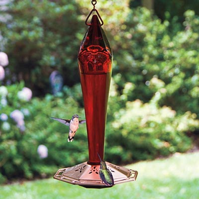 Red Facets Hummingbird Feeder