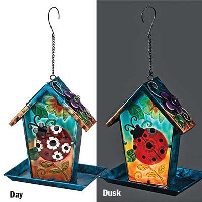Ladybug Solar Bird Feeder