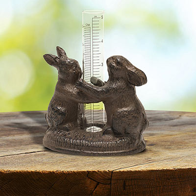 Dancing Rabbits Rain Gauge