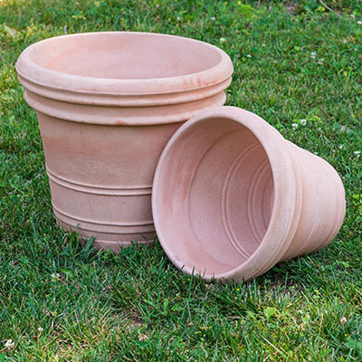 Antiqued Faux Terra Planter