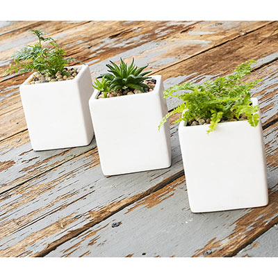 Hanging Wall Cube Planter