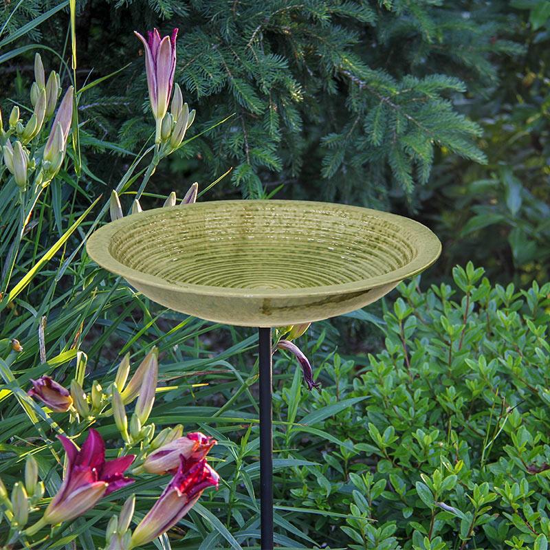 Versatile Ceramic Birdbath