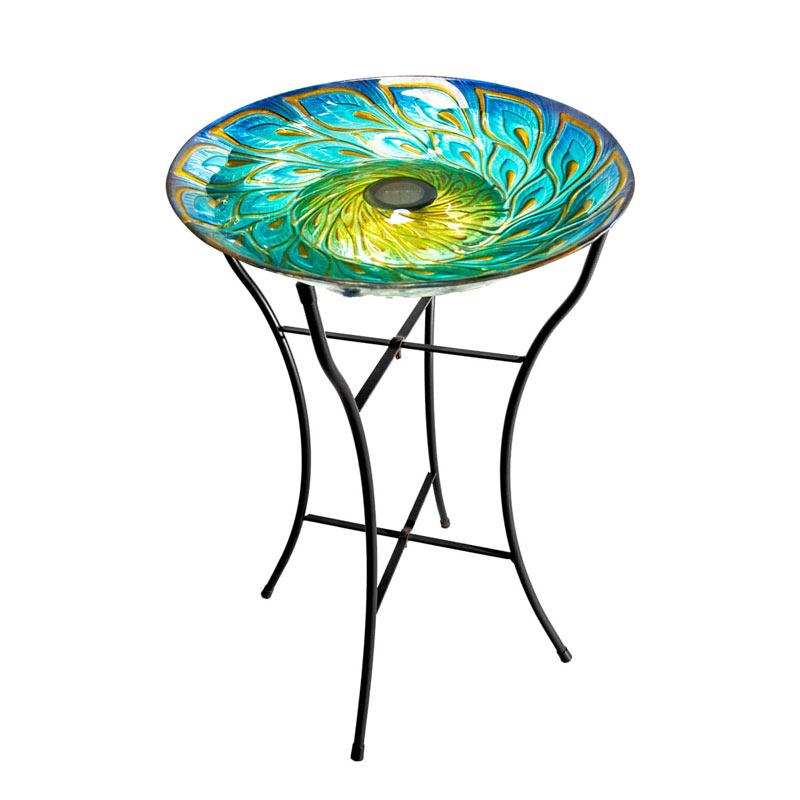 Iridescent Solar Birdbath