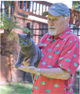 Denny with grey cat