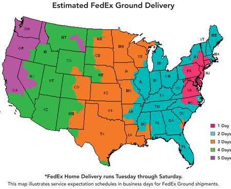 Estimated FedEx Ground Delivery