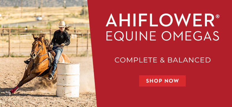 Springtime Supplements Ahiflower® Equine Omegas. Not from fish. Better than flax. Non-GMO. Maintain Mobility. Enhance joint funtion.