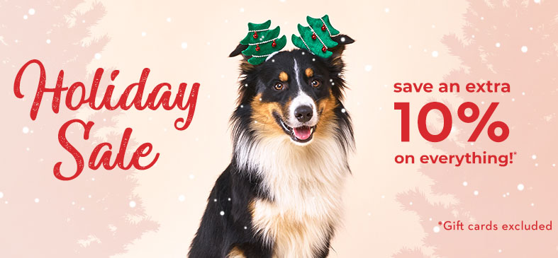 Holiday Sale. Save an extra 10% on everything!* Gift cards excluded
